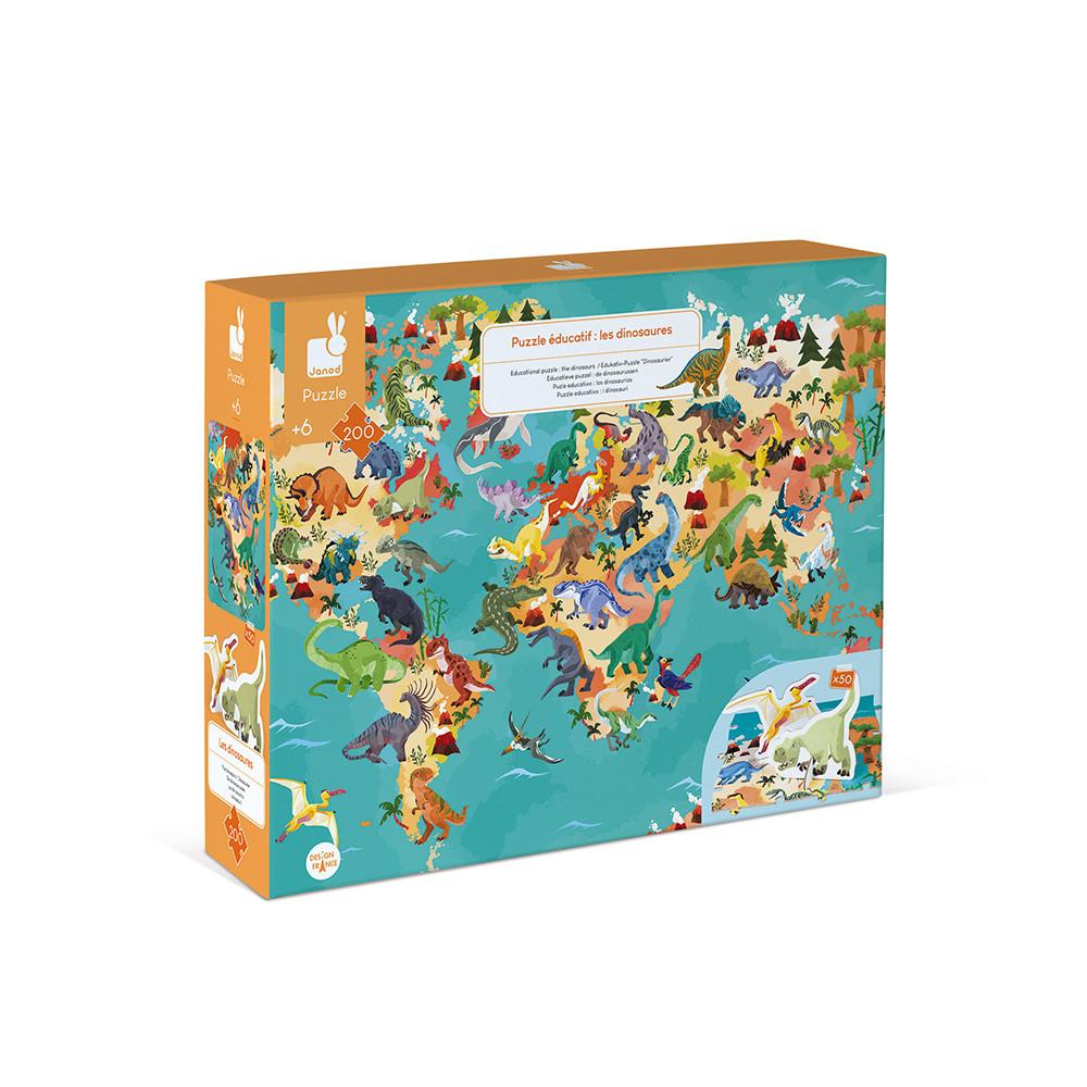 Janod - Dinosaurier Edukativ-Puzzle