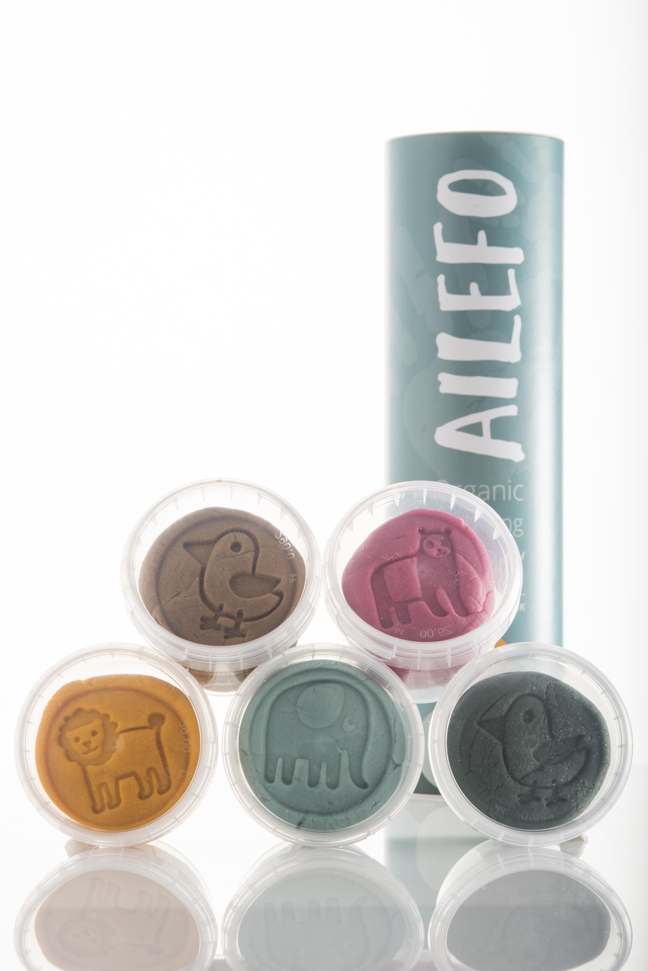 Ailefo - Bio Knete 5er Set klein