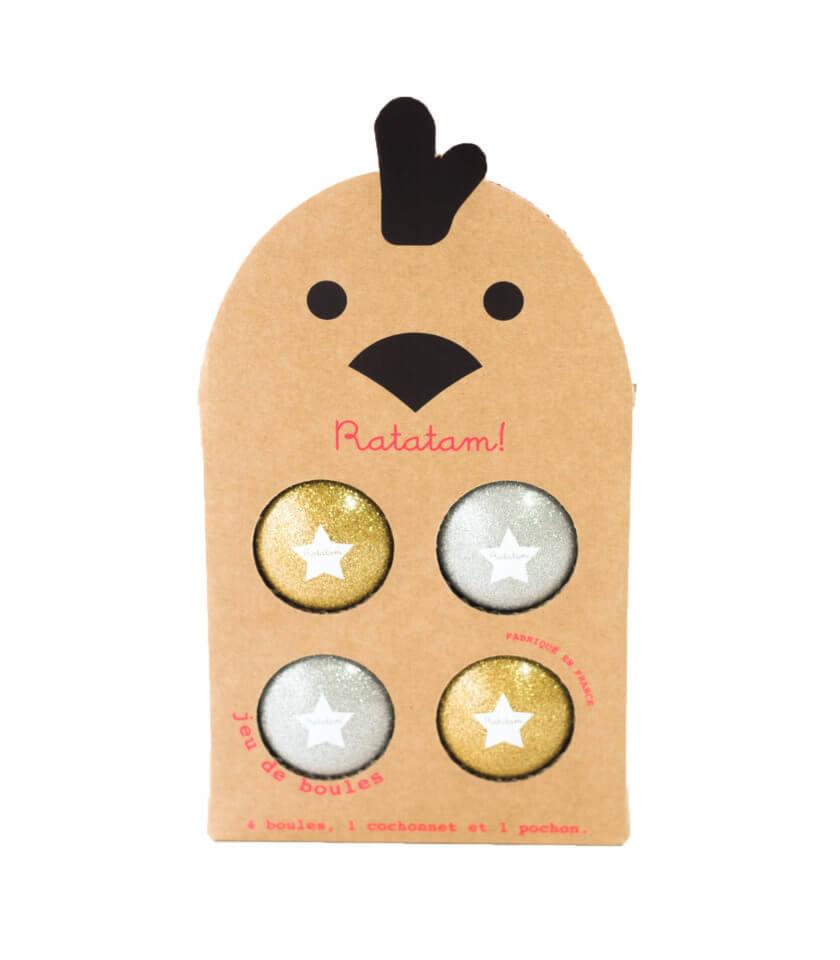 Ratatam - Boule Spiel gold/silber