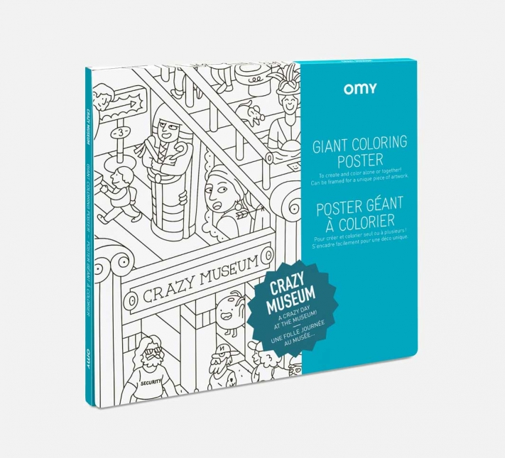 OMY – Giant Coloring Poster Crazy Museum