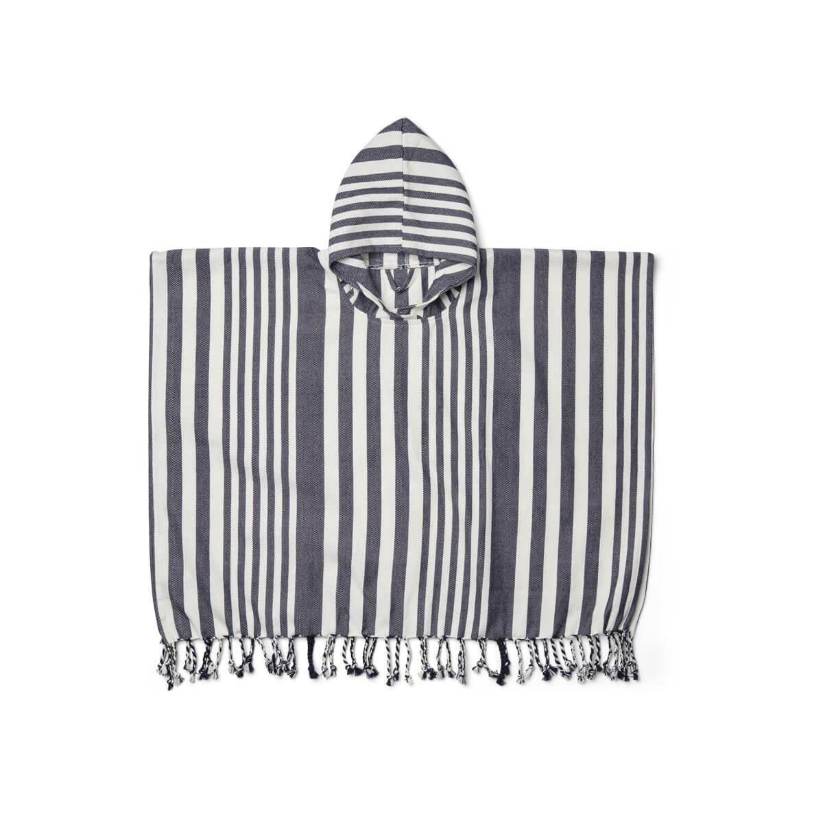 Liewood - Roomie Poncho Stripe Navy