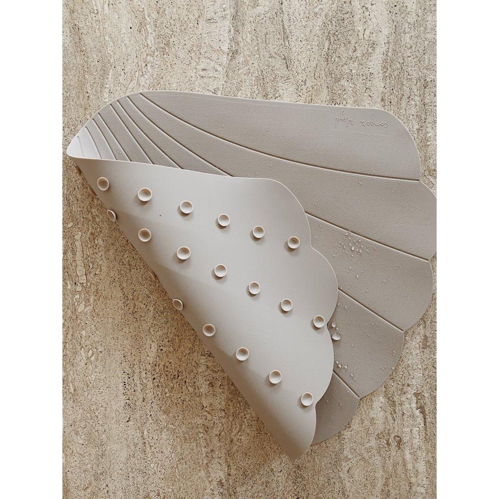 konges slojd - Silikon Badematte Muschel Warm Grey