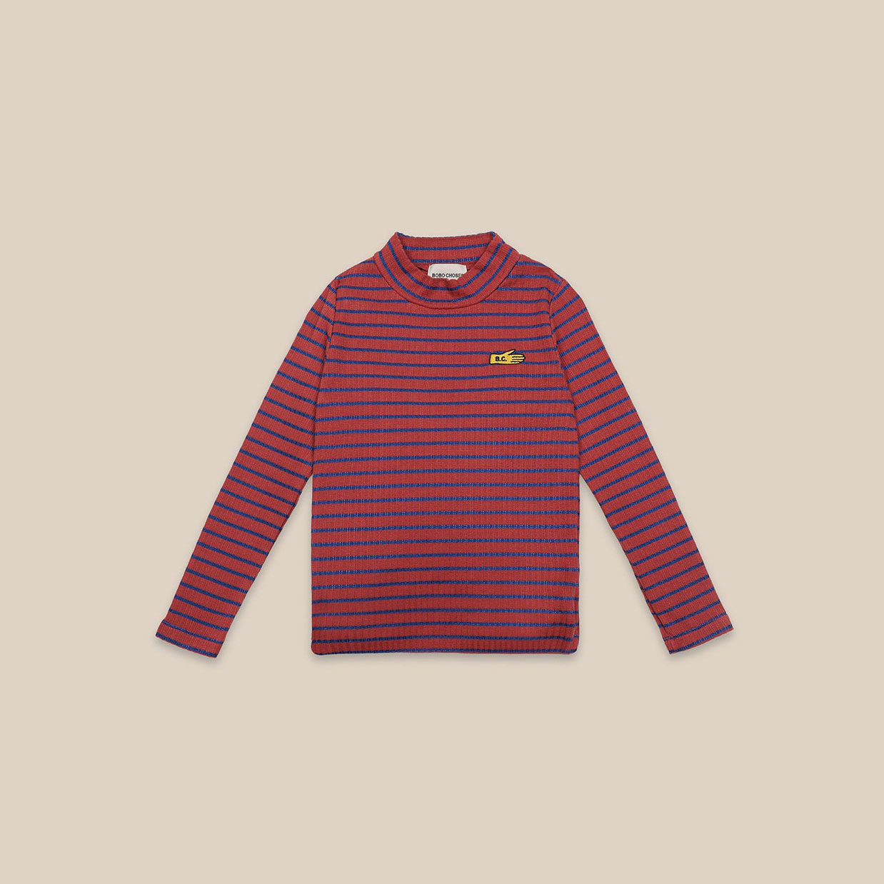 Bobo Choses - Striped Turtle Neck T-shirt