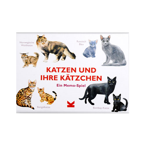 Katzen und ihre Kätzchen, Memo Spiel