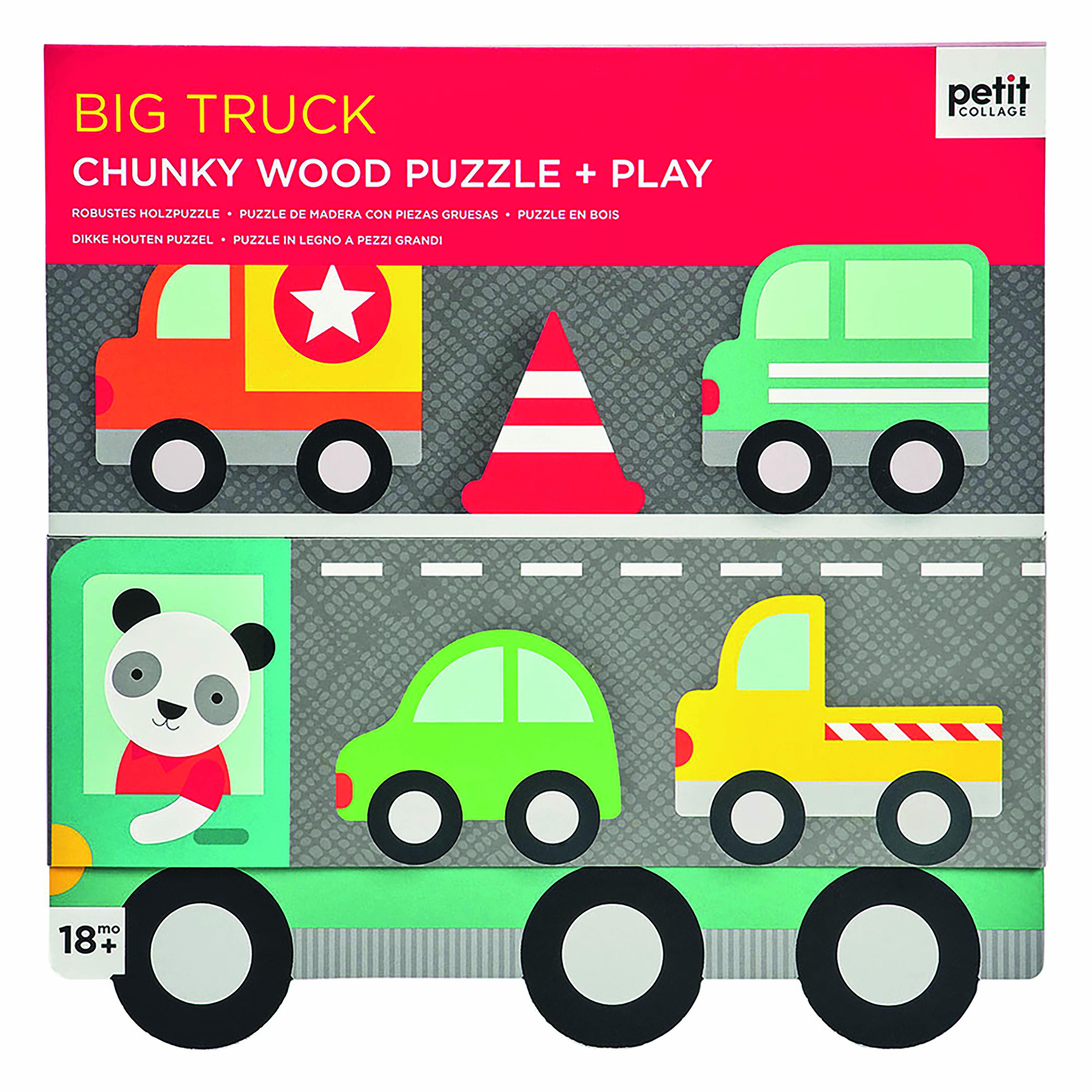Petit Collage - Chunky Puzzle Fahrzeuge