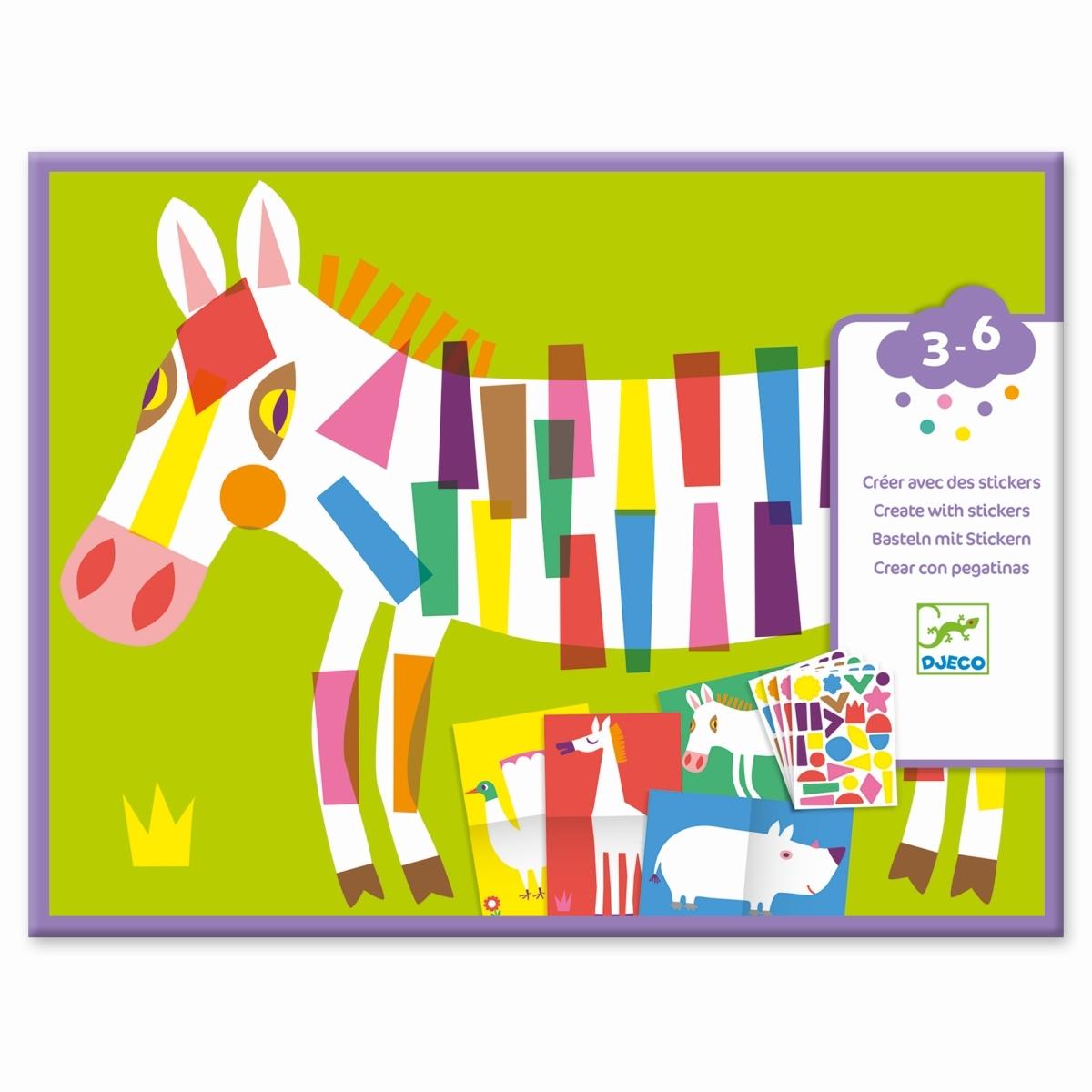 Djeco - Sticker Große Tiere