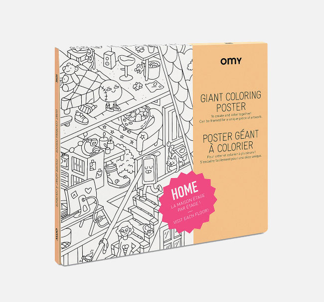 OMY – Giant Coloring Poster Home