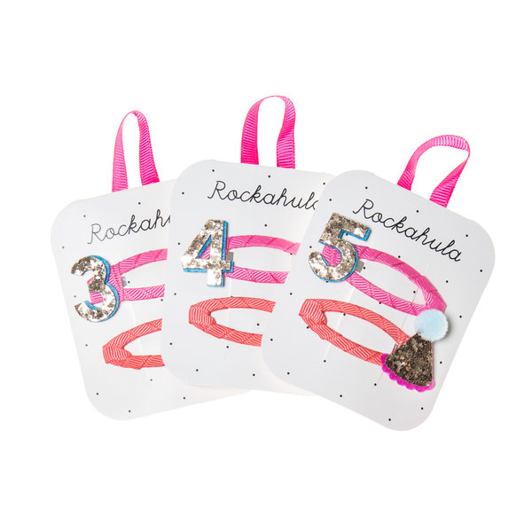 Rockahula - Birthday Glitter Haarspangen 3-5 Jahre