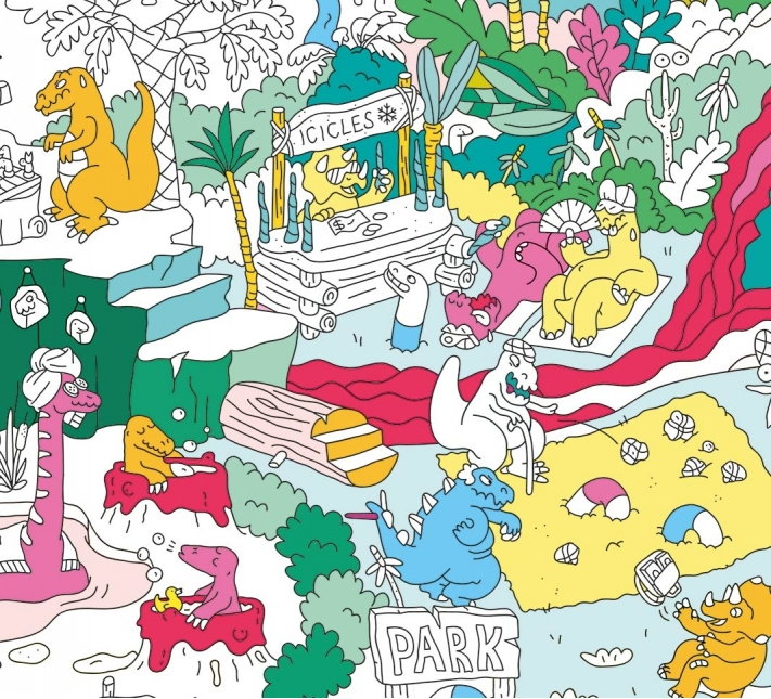 OMY - Giant Coloring Poster Dino