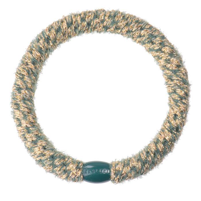 Kknekki - Haargummi Velvet Glitter Forrest Green