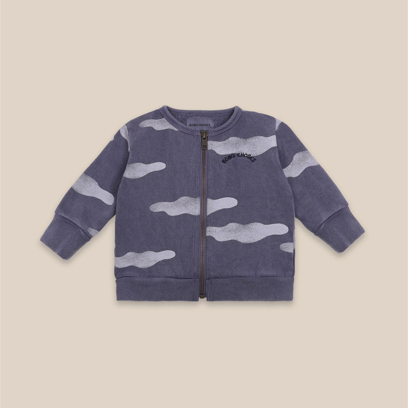 Bobo Choses - Baby Clouds All Over Zipped Sweatshirt