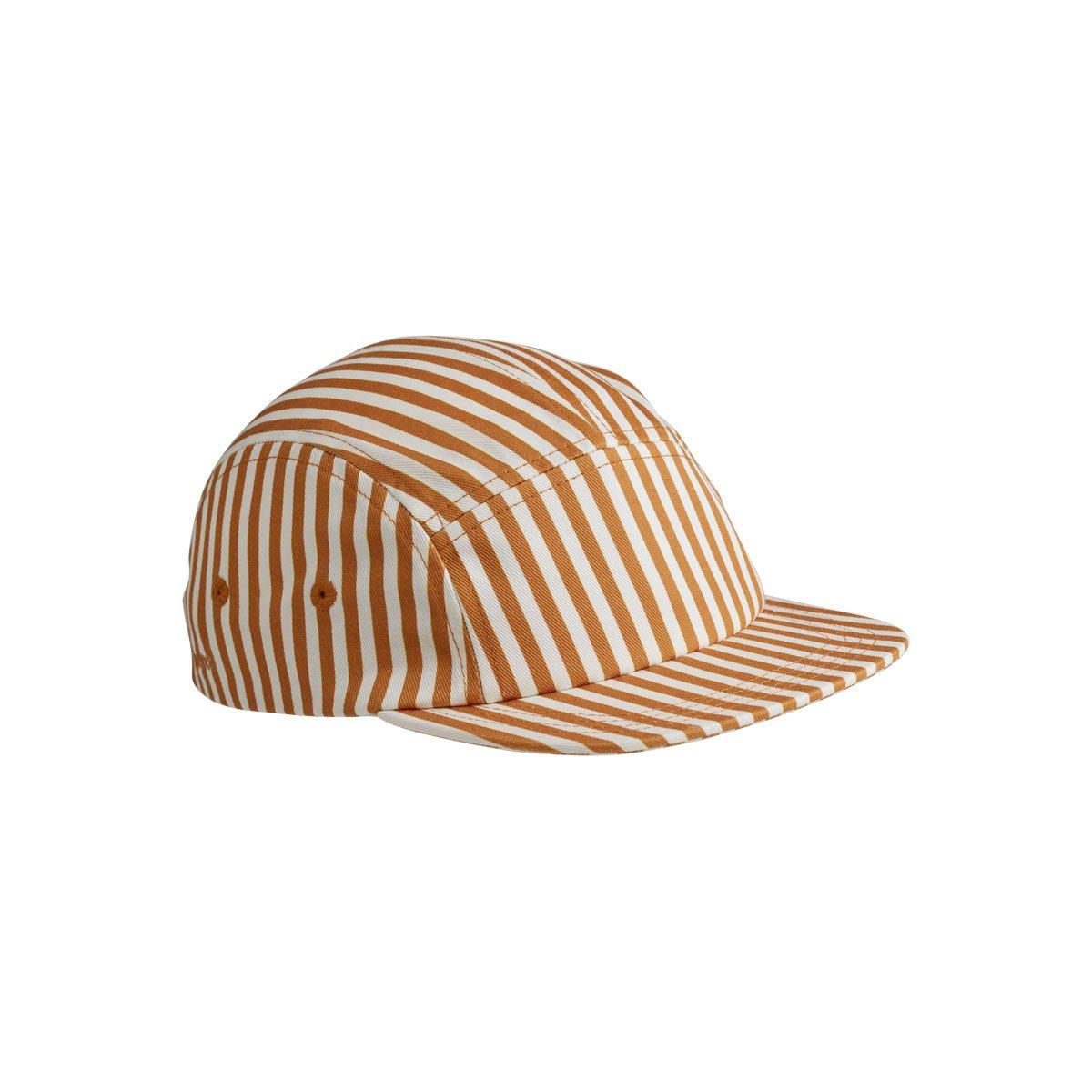Liewood - Rory Cap Stripe mustard/white