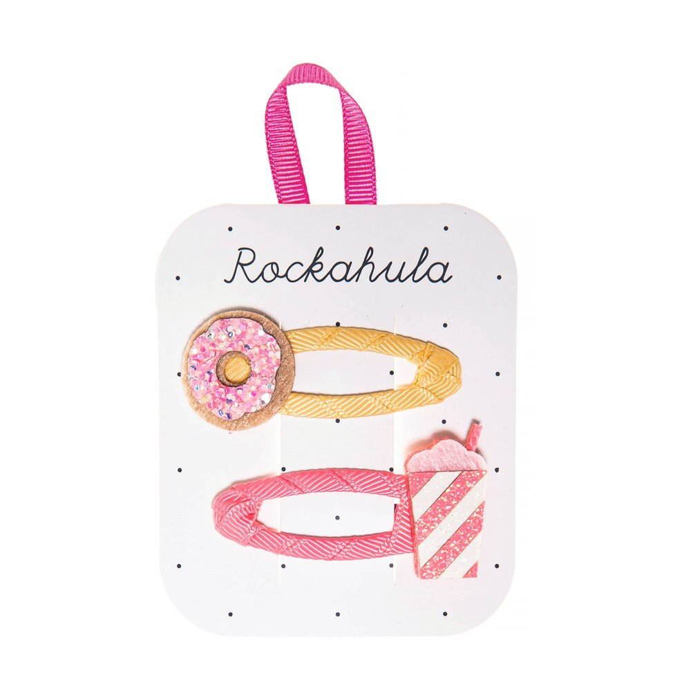 Rockahula - Donut und Milkshake Glitter Haarspangen