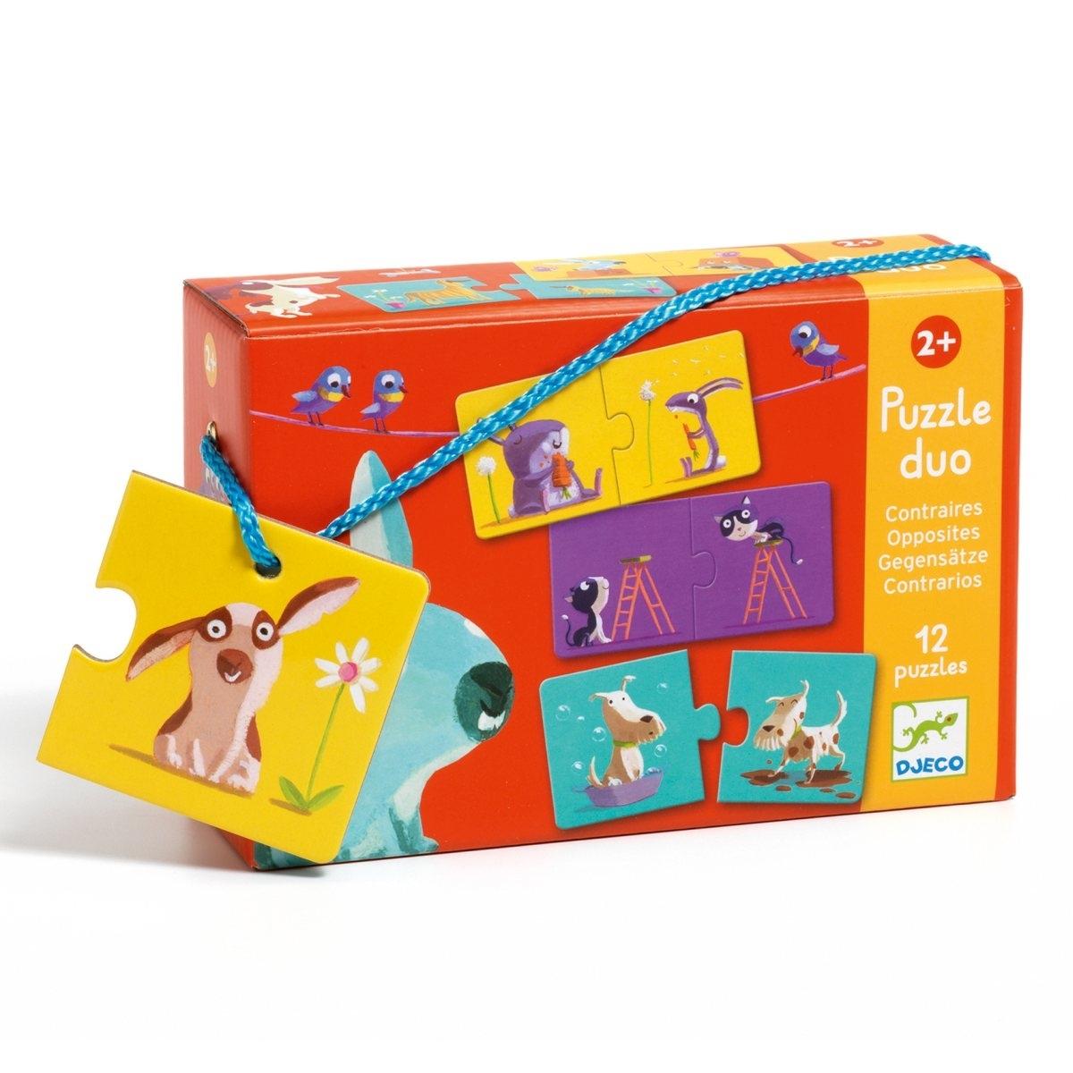 Djeco - Puzzle Duo Gegensätze