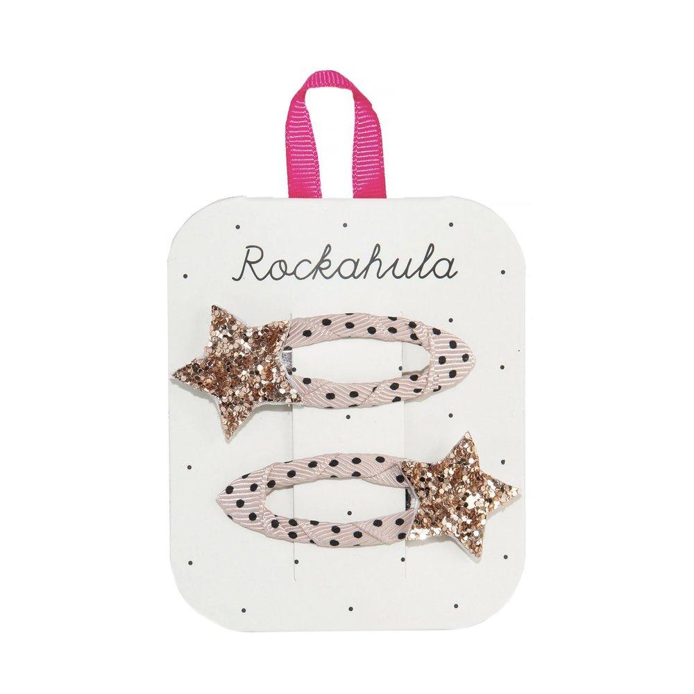 Rockahula - Star Burst Glitter Gold Haarspangen