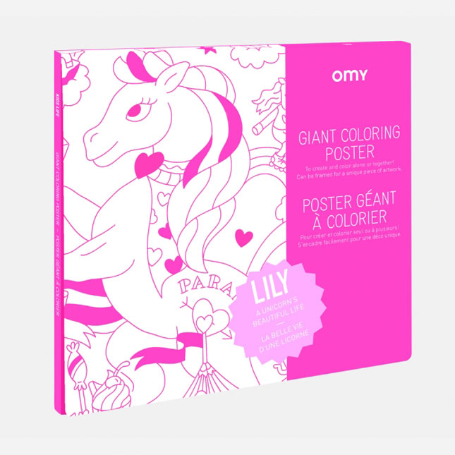 OMY – Giant Coloring Poster Lily