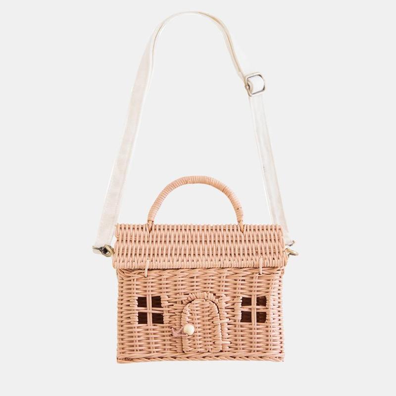 Olli Ella - Rattan Casa Bag Rose