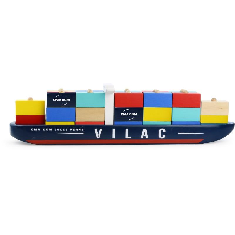 vilac - Stapelspiel Containerschiff