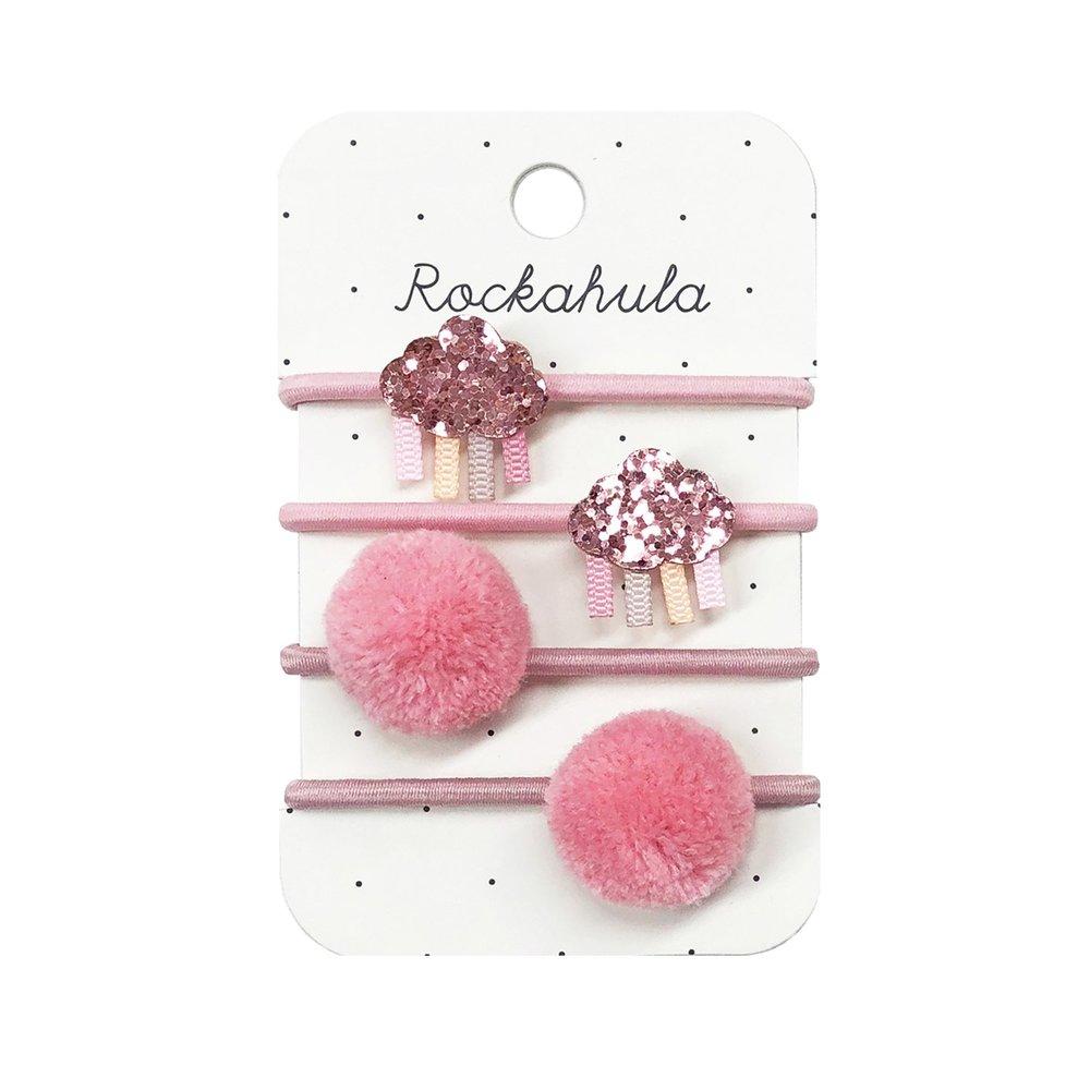 Rockahula - Rainbow Cloud Glitter Pink Haargummis