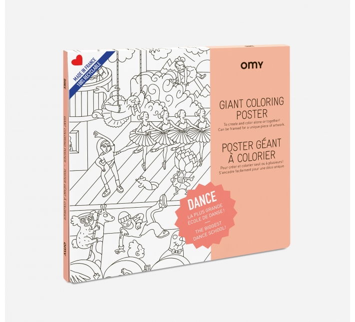 OMY – Giant Coloring Poster Tanzen