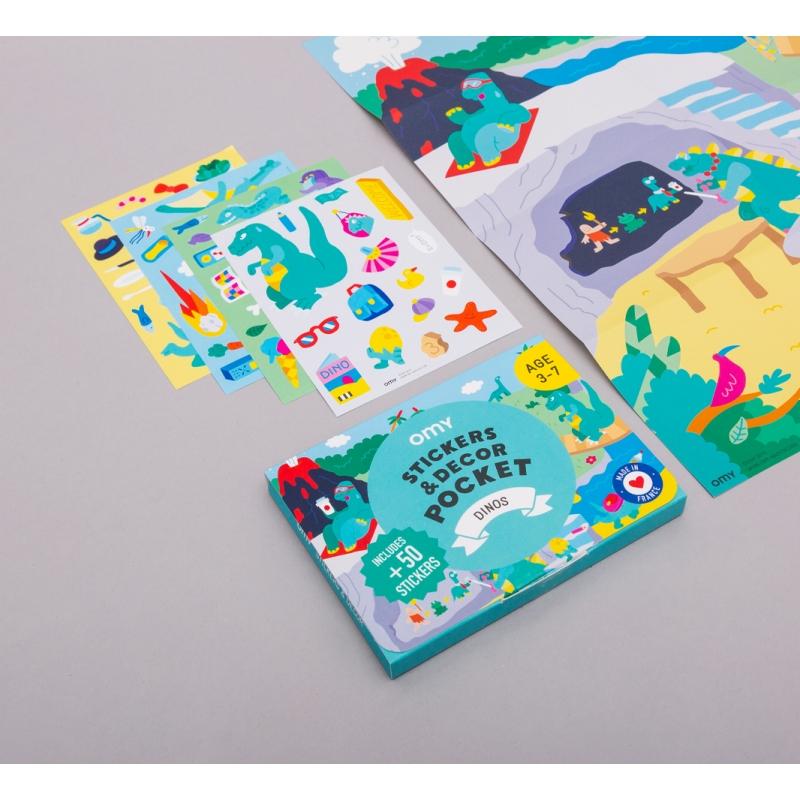 OMY - Pocket Stickers Dinos