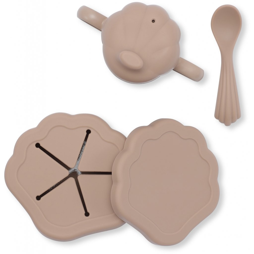 konges slojd - Silikon Muschel Geschirr Set Blush