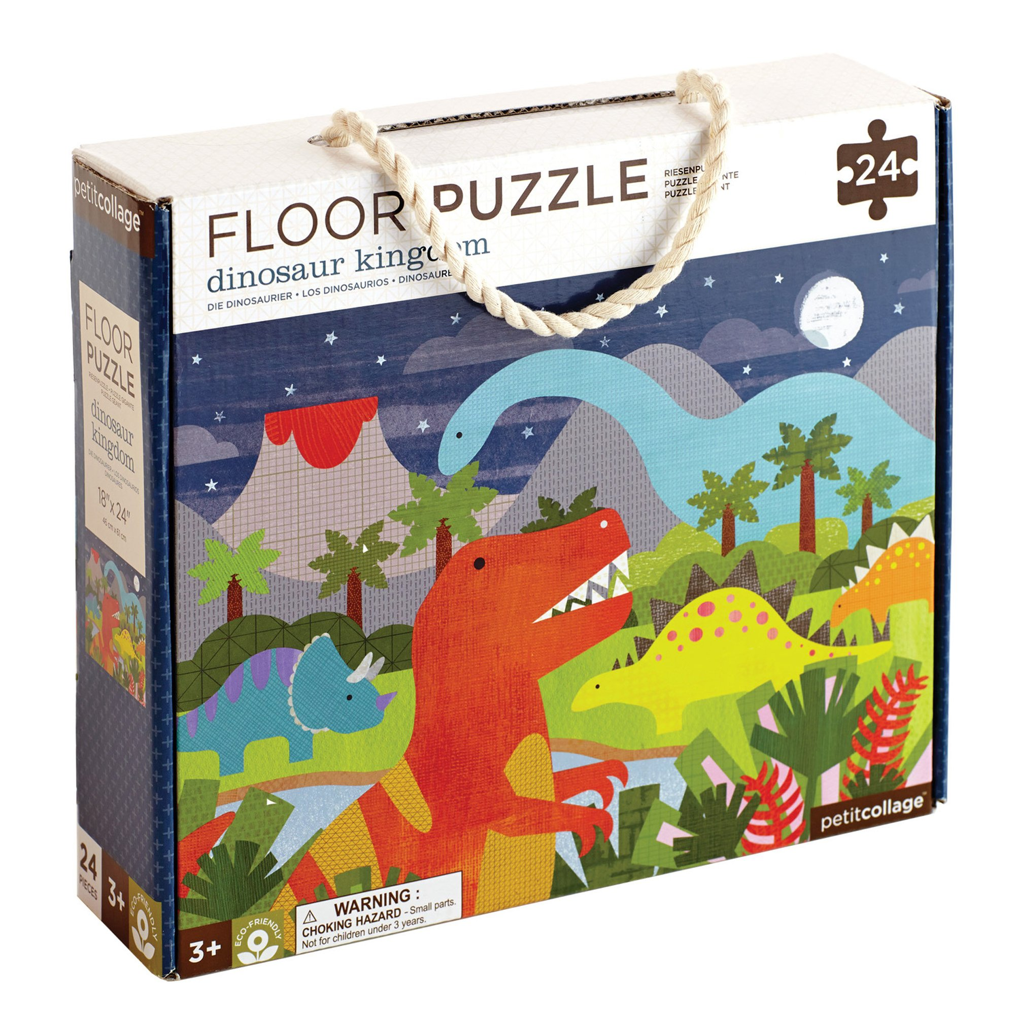 Petit Collage - Floor Puzzle Dinosaurier