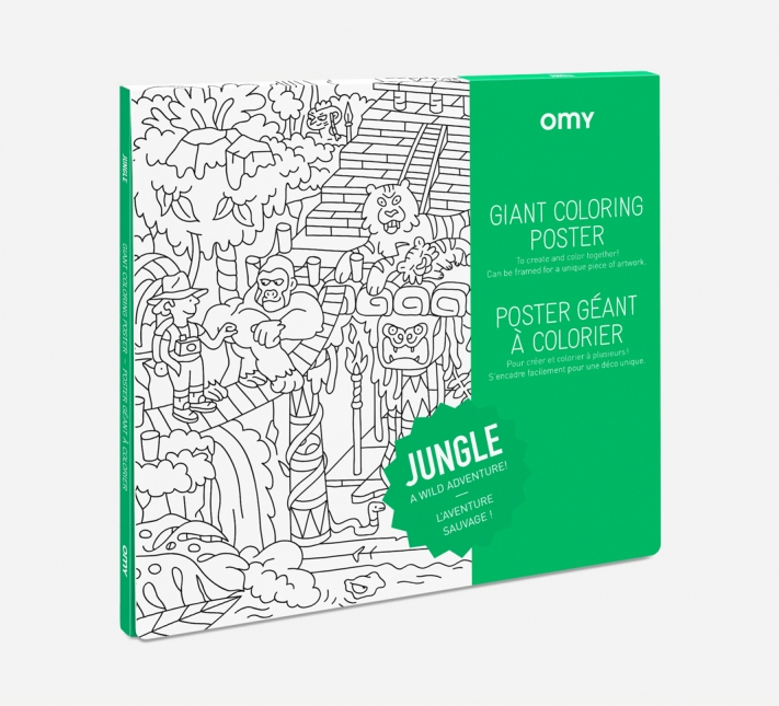 OMY – Giant Coloring Poster Jungle