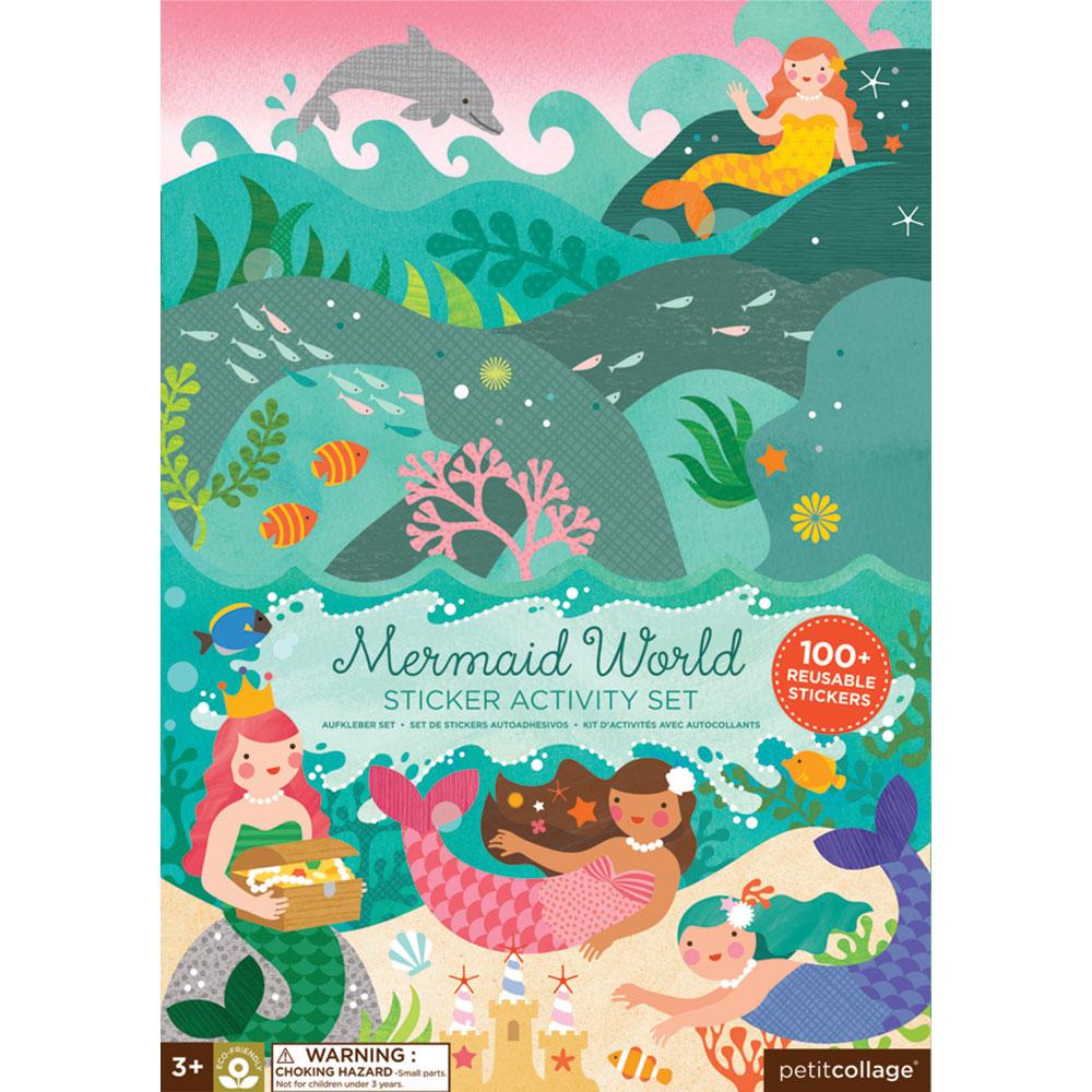 Petit Collage - Stickerbuch Meerjungfrau