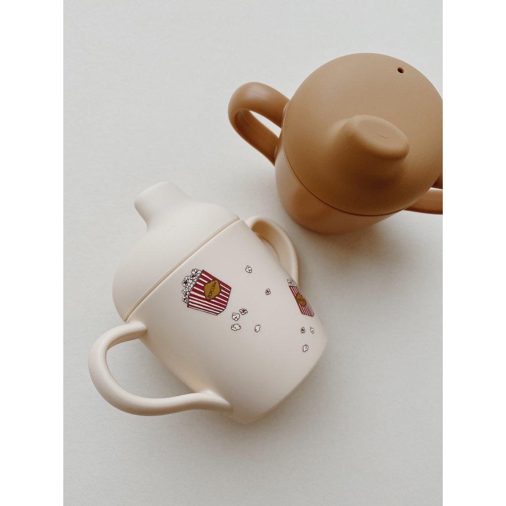 konges slojd - 2er Pack Trinkbecher Sippy Cup Popcorn/Light Brown