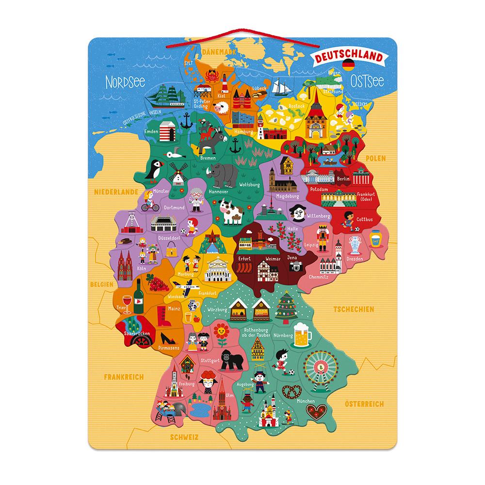 Janod - Magnetische Deutschlandkarte