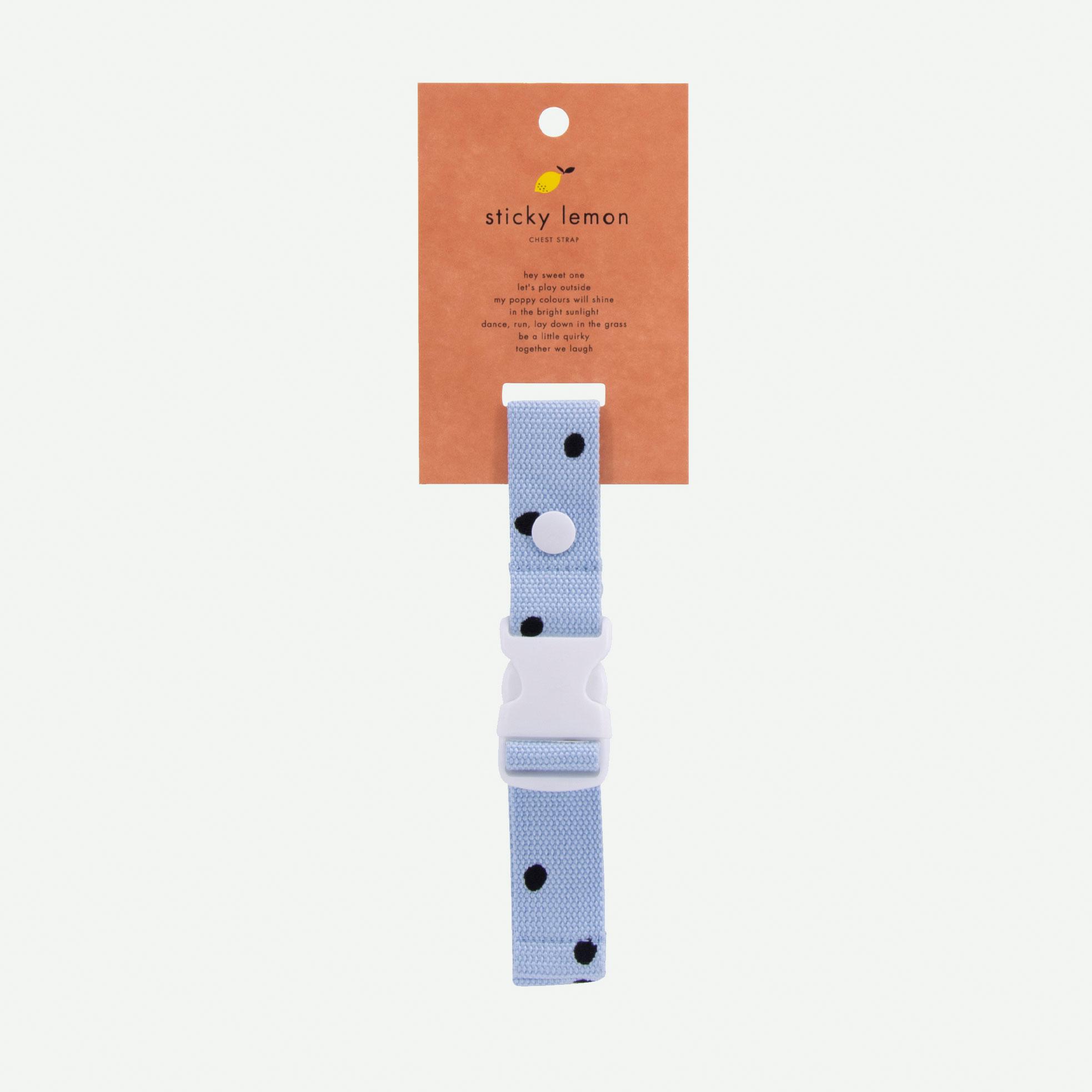 Sticky Lemon - Brustgurt Rucksack Freckles sky blue