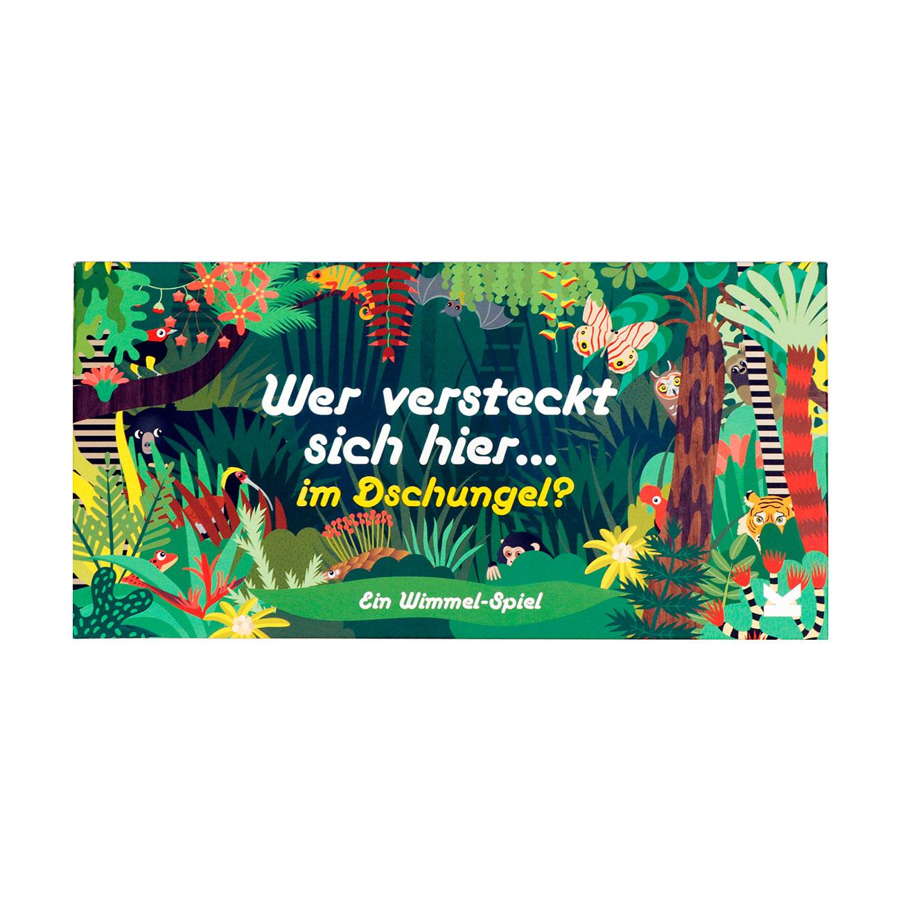 Wer versteckt sich hier… im Dschungel?