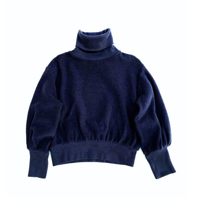 Longlivethequeen - Terry Rollkragen Sweater navy