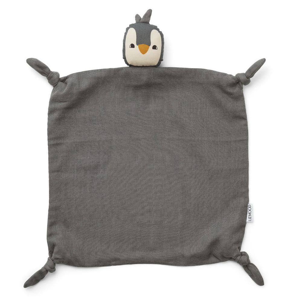 Liewood - Agnete Kuscheltuch Penguin stone grey