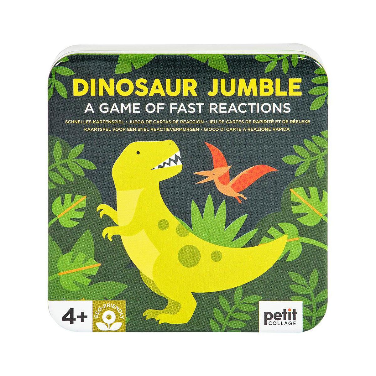 Petit Collage - Jumble Spiel Dinosaurier