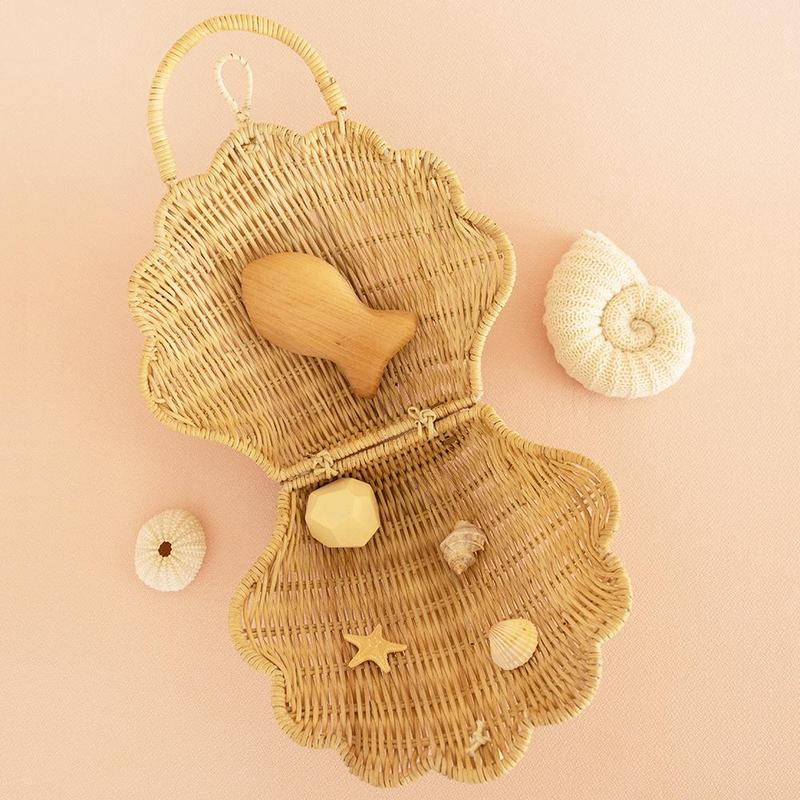 Olli Ella - Rattan Shell Bag Straw