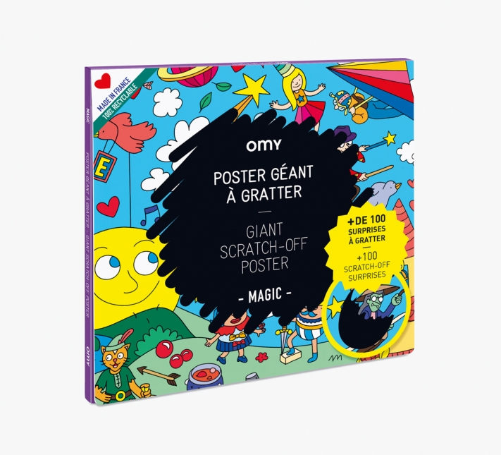 OMY – Giant Scratch Poster Magic