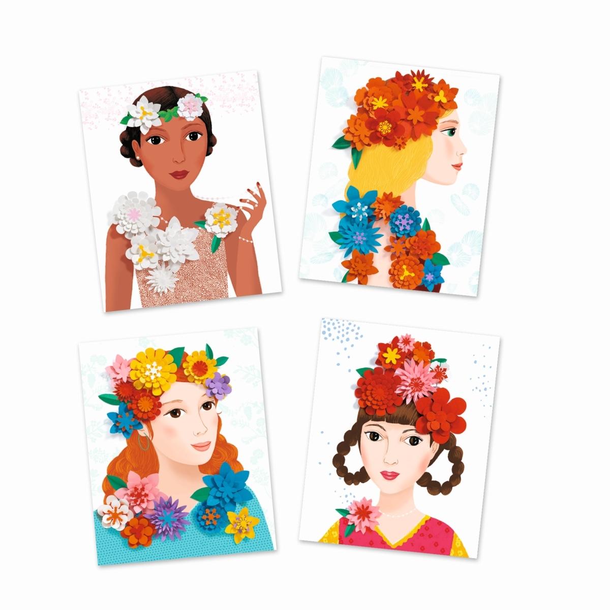 Djeco - Papierkunst Blumenmädchen