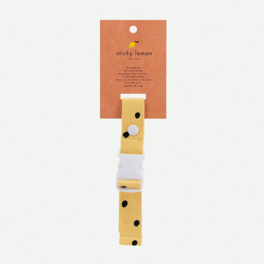 Sticky Lemon - Brustgurt Rucksack Freckles retro yellow