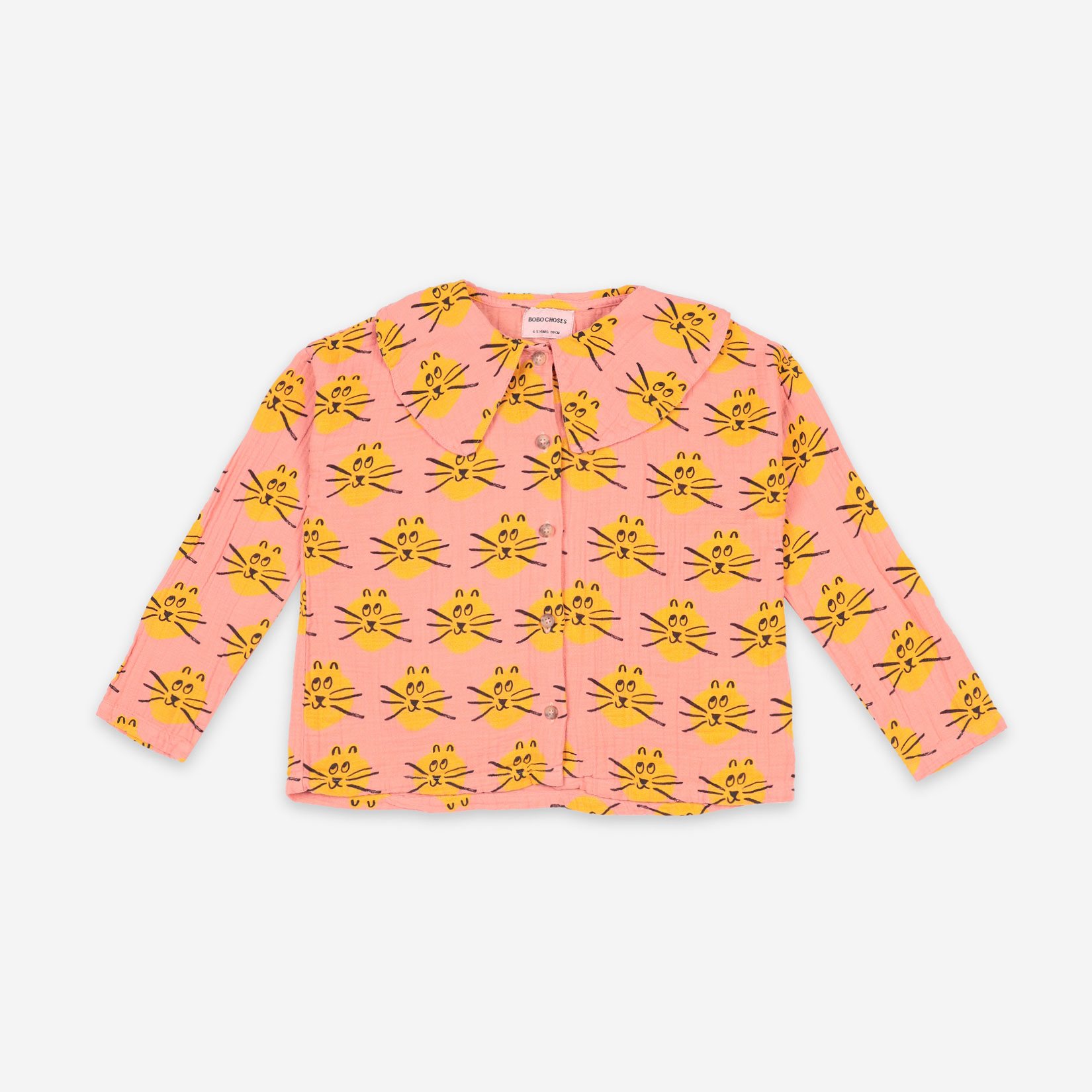 Bobo Choses - Cat All Over Woven Blouse