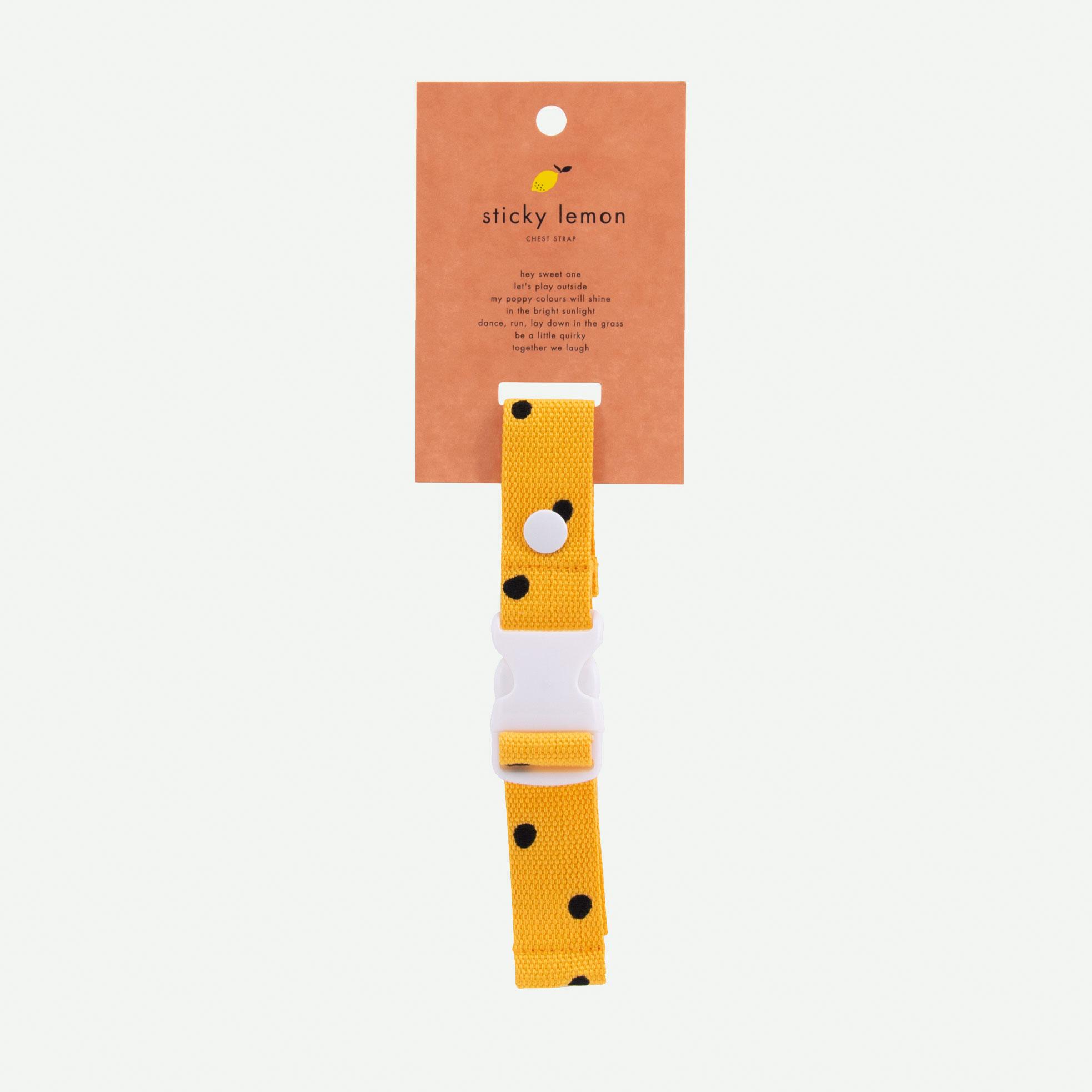 Sticky Lemon - Brustgurt Rucksack Freckles sunny yellow