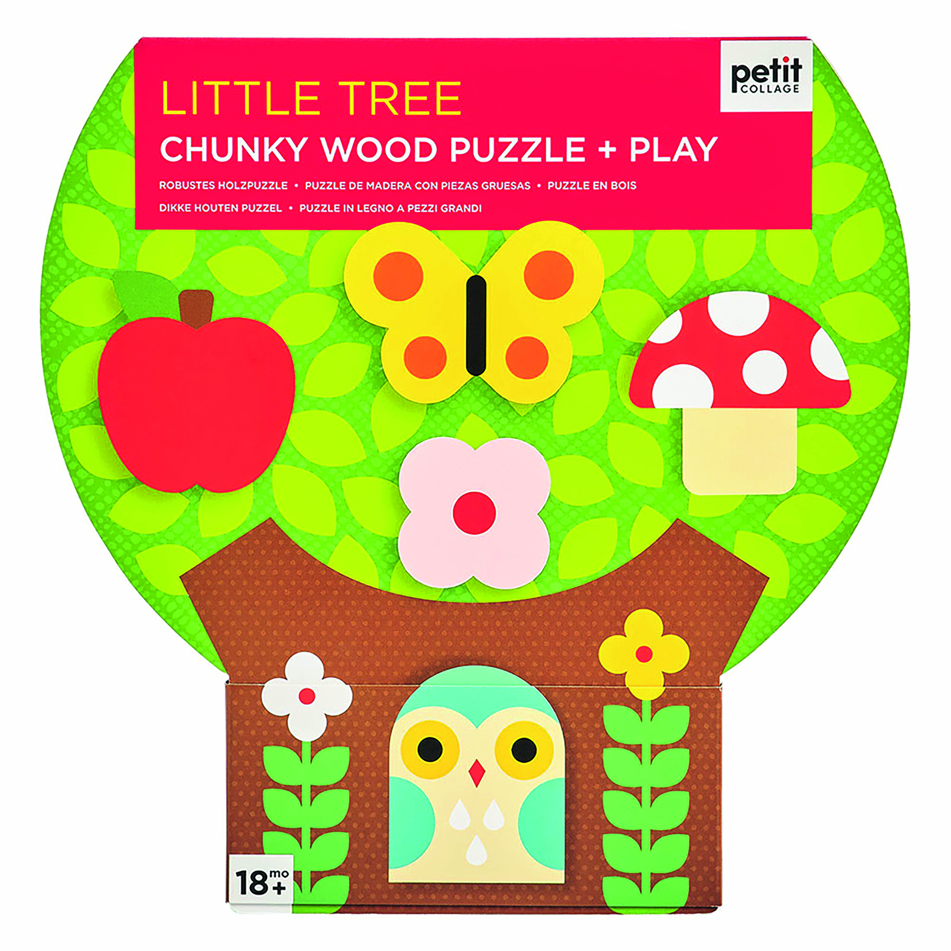 Petit Collage - Chunky Puzzle Baum
