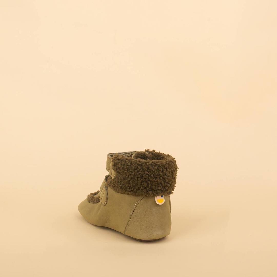 Dulis Shoes - Olive Straps Sheep Boot