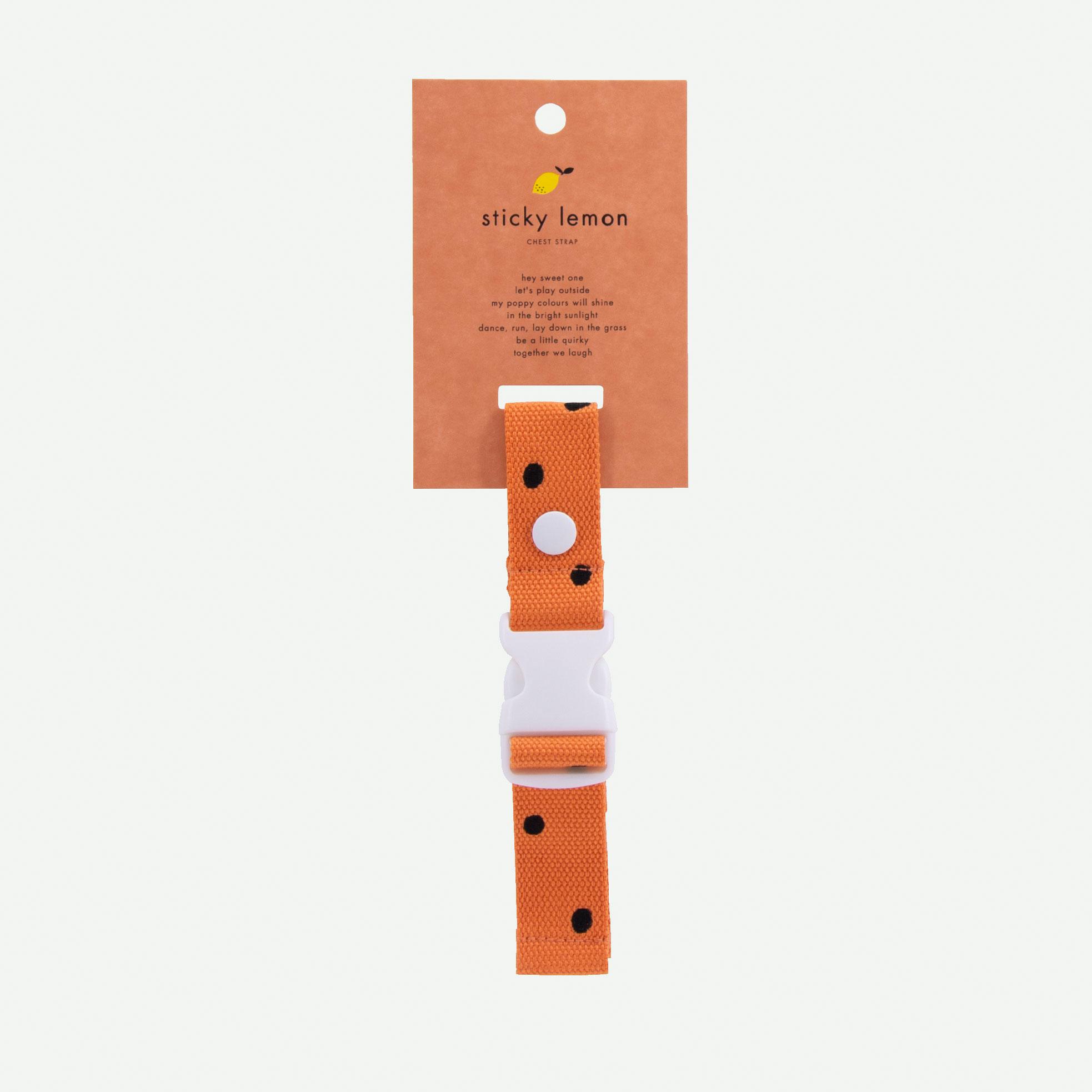 Sticky Lemon - Brustgurt Rucksack Freckles carrot orange