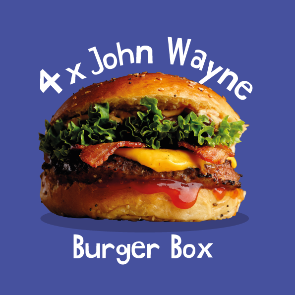 4 x John Wayne Burger Box