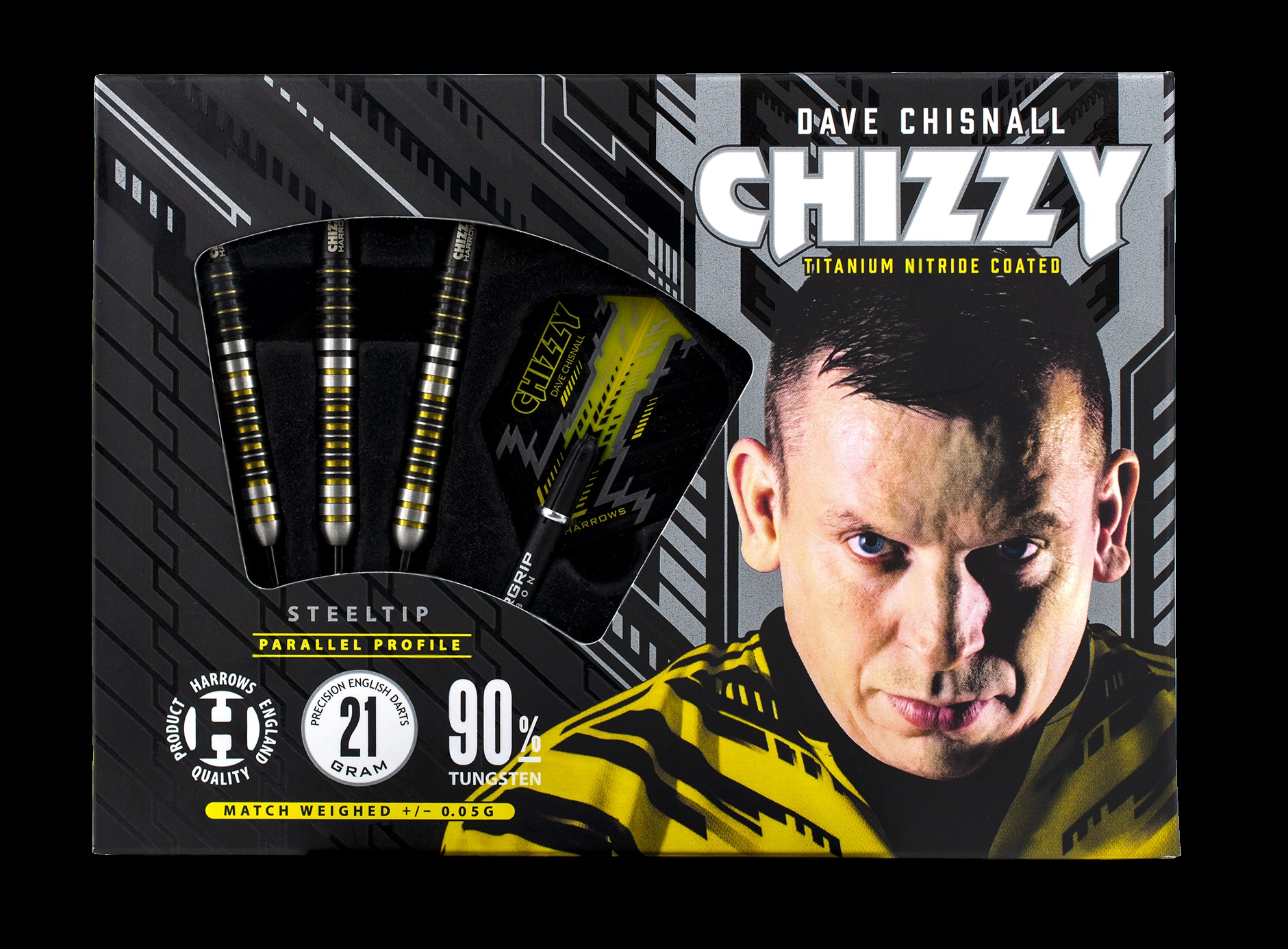 HARROWS Dave Chisnall Chizzy Steel-Dart in 22g