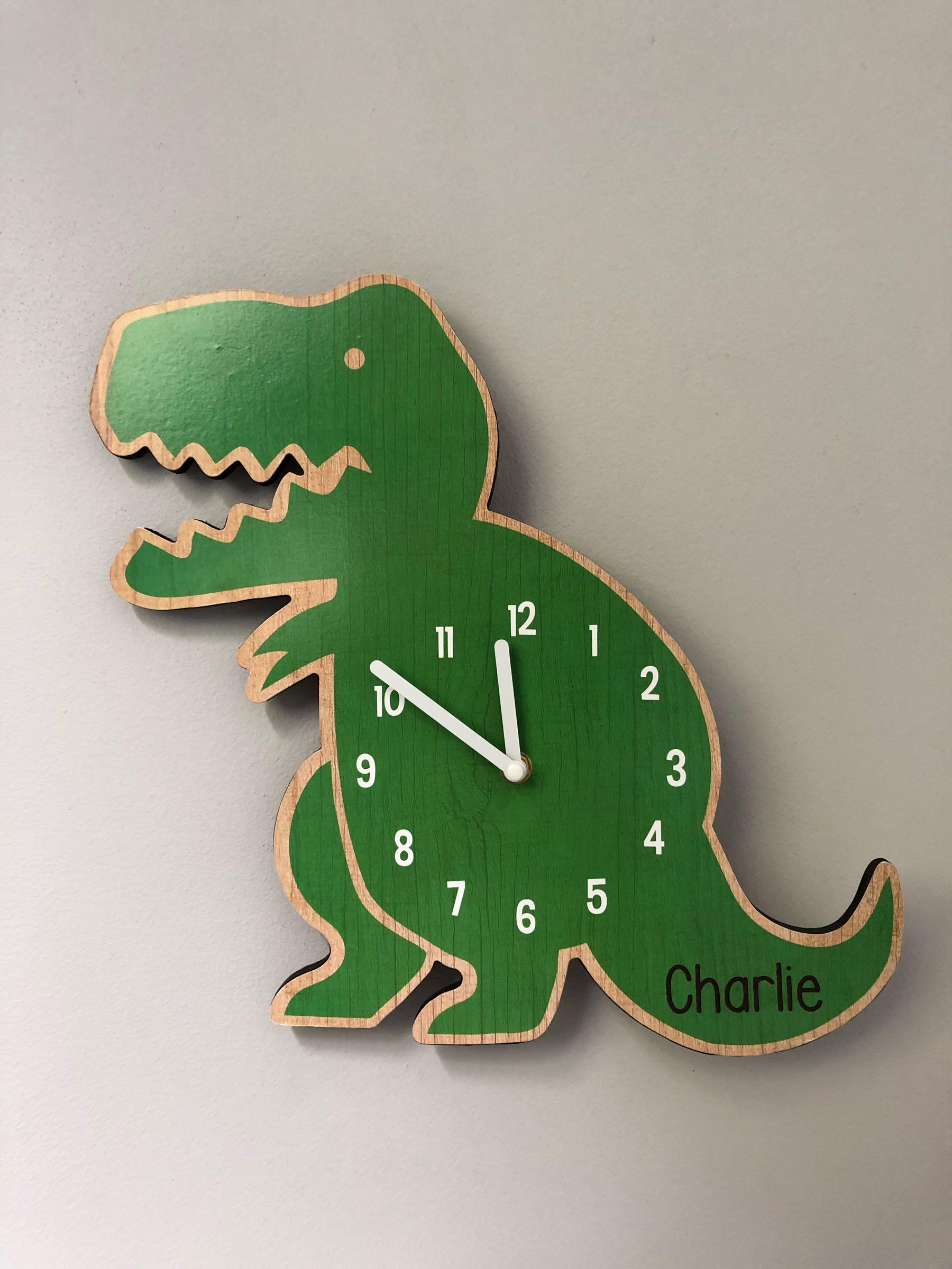 Personalised Dinosaur Clock  33x33cm
