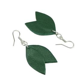 Cobblerina: pienet Lehdykkä-korvakorut, vihreä