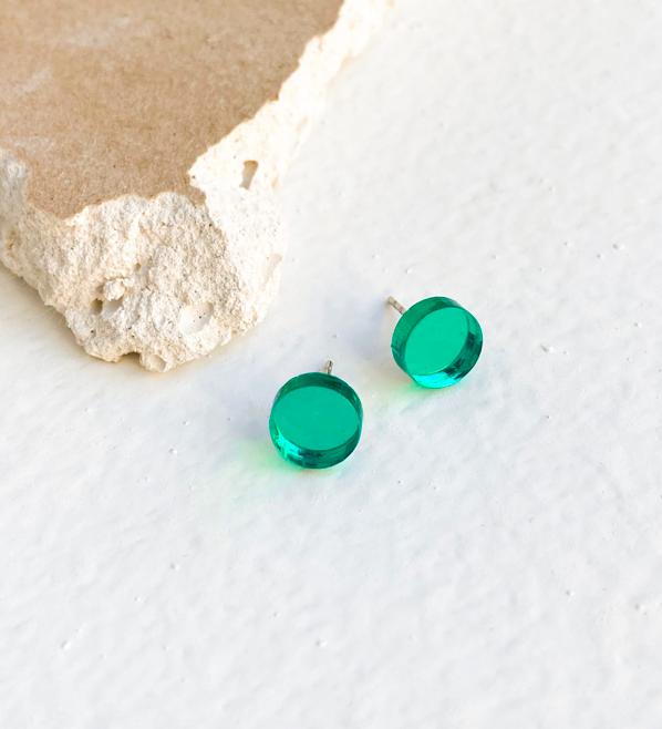 ButoniDesign: Konfetti-korvakorut, vihreä peili